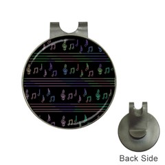 Music pattern Hat Clips with Golf Markers