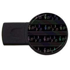 Music pattern USB Flash Drive Round (4 GB)