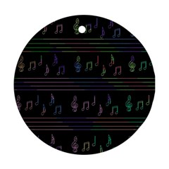 Music pattern Round Ornament (Two Sides)