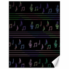 Music pattern Canvas 18  x 24