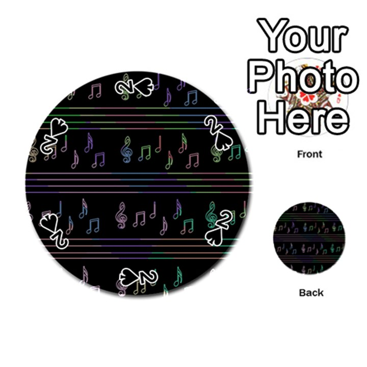 Music pattern Playing Cards 54 (Round)