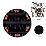 Music pattern Playing Cards 54 (Round)  Front - Diamond6