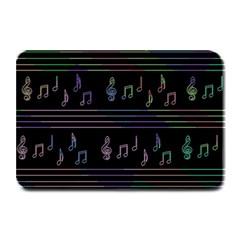 Music pattern Plate Mats
