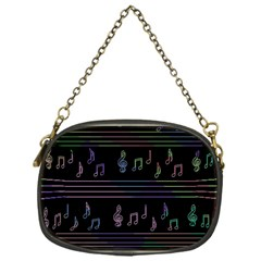 Music pattern Chain Purses (One Side)