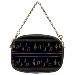 Music pattern Chain Purses (Two Sides)