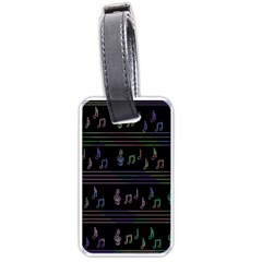 Music pattern Luggage Tags (Two Sides)