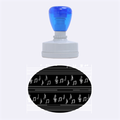 Music pattern Rubber Oval Stamps