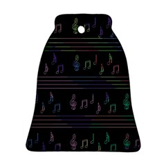Music pattern Bell Ornament (2 Sides)