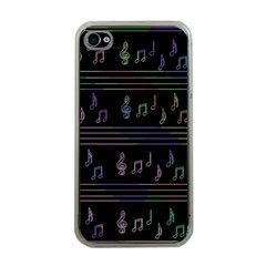 Music pattern Apple iPhone 4 Case (Clear)