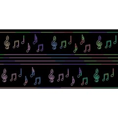 Music pattern YOU ARE INVITED 3D Greeting Card (8x4)