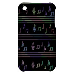 Music pattern Apple iPhone 3G/3GS Hardshell Case