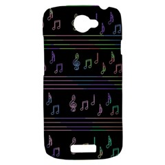 Music pattern HTC One S Hardshell Case