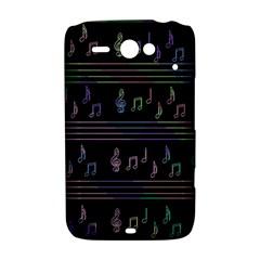 Music pattern HTC ChaCha / HTC Status Hardshell Case