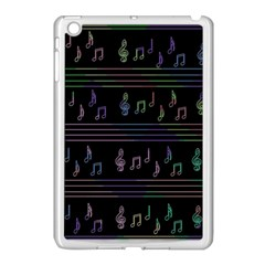 Music pattern Apple iPad Mini Case (White)