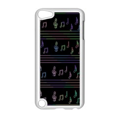 Music pattern Apple iPod Touch 5 Case (White)