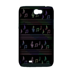 Music pattern Samsung Galaxy Note 2 Hardshell Case (PC+Silicone)