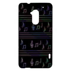 Music pattern HTC One Max (T6) Hardshell Case