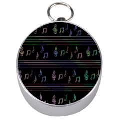 Music pattern Silver Compasses