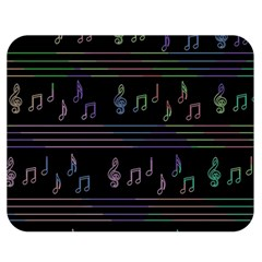 Music pattern Double Sided Flano Blanket (Medium)