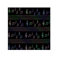 Music pattern Small Satin Scarf (Square)