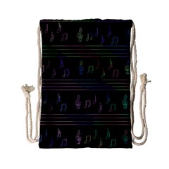 Music pattern Drawstring Bag (Small)