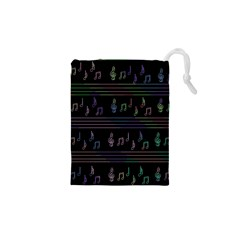 Music pattern Drawstring Pouches (XS)