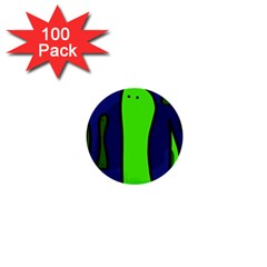 Green snakes 1  Mini Buttons (100 pack)
