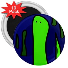 Green snakes 3  Magnets (10 pack)