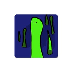 Green snakes Square Magnet