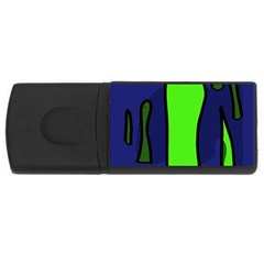 Green snakes USB Flash Drive Rectangular (4 GB)