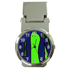 Green snakes Money Clip Watches