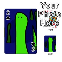Green snakes Playing Cards 54 Designs