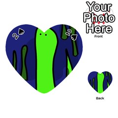 Green snakes Playing Cards 54 (Heart)
