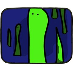 Green snakes Fleece Blanket (Mini)