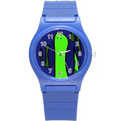 Green snakes Round Plastic Sport Watch (S)