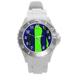 Green snakes Round Plastic Sport Watch (L)