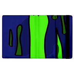 Green snakes Apple iPad 2 Flip Case
