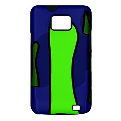 Green snakes Samsung Galaxy S II i9100 Hardshell Case (PC+Silicone)
