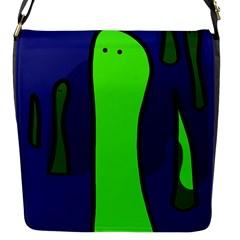 Green snakes Flap Messenger Bag (S)