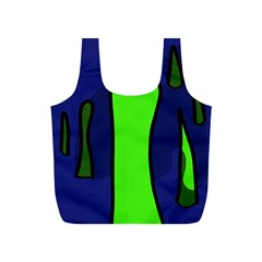 Green snakes Full Print Recycle Bags (S)