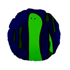 Green snakes Standard 15  Premium Flano Round Cushions