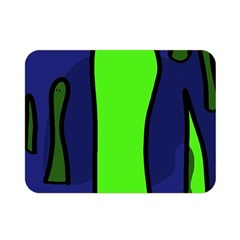 Green snakes Double Sided Flano Blanket (Mini)
