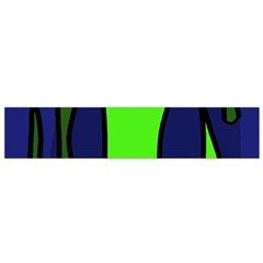 Green snakes Flano Scarf (Small)