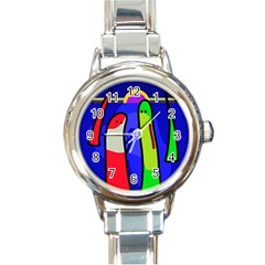 Colorful snakes Round Italian Charm Watch