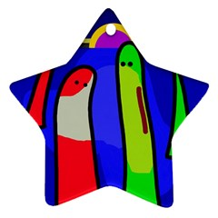 Colorful snakes Ornament (Star)