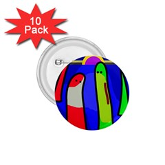 Colorful snakes 1.75  Buttons (10 pack)