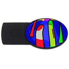 Colorful snakes USB Flash Drive Oval (2 GB)