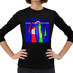 Colorful snakes Women s Long Sleeve Dark T-Shirts