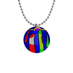 Colorful snakes Button Necklaces