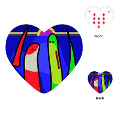 Colorful snakes Playing Cards (Heart)